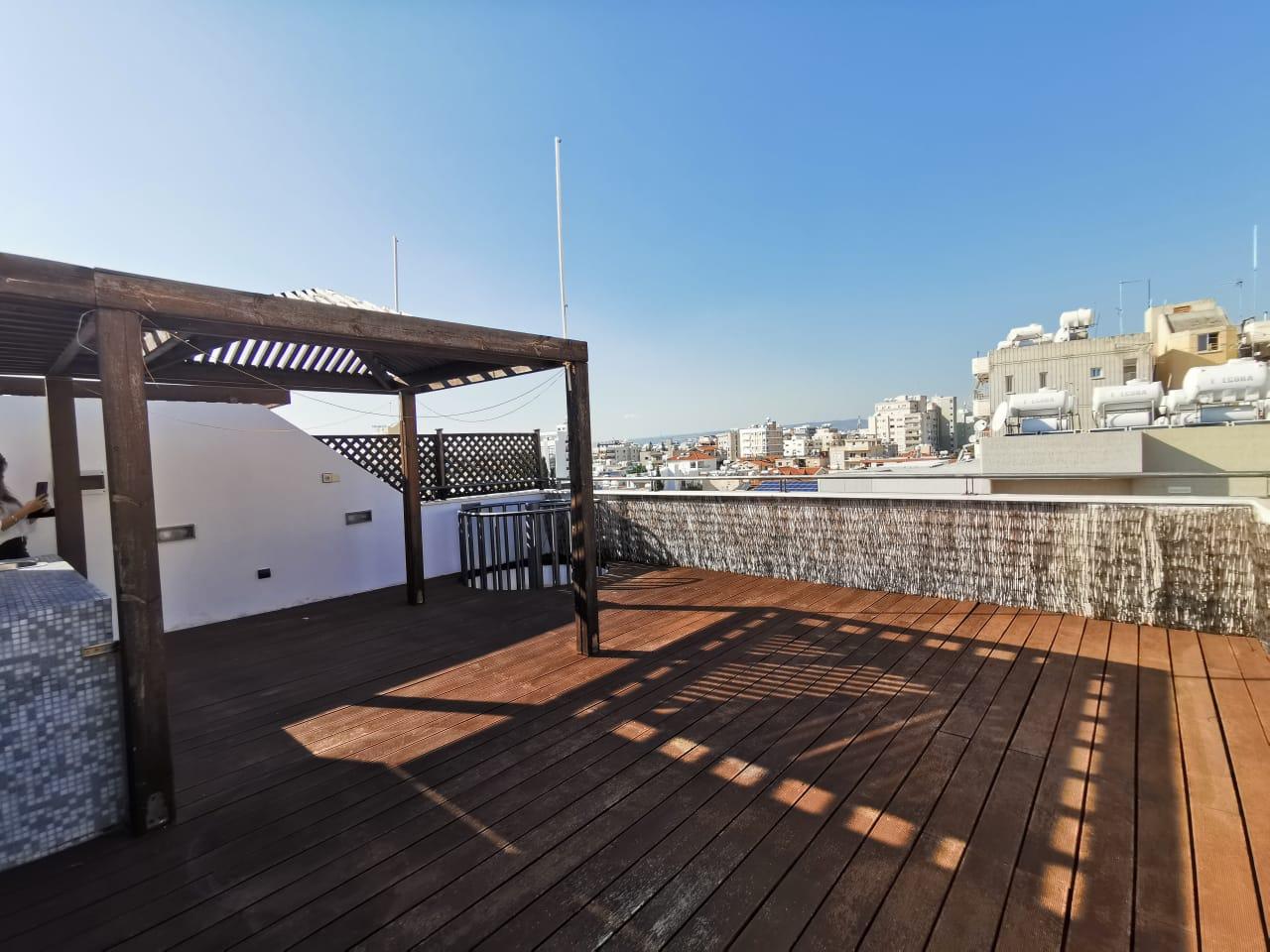 2 Bedroom Apt., Top Floor With Roof Garden – Limassol City Center